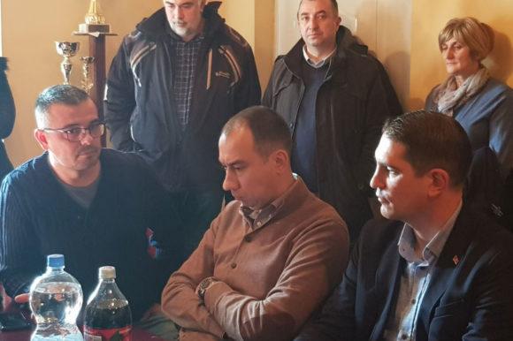 Недимовић и Радојевић у посети Остојићеву