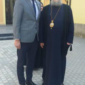 Посета Епископа сремског Василија манастиру Свете Тројице у Кикинди